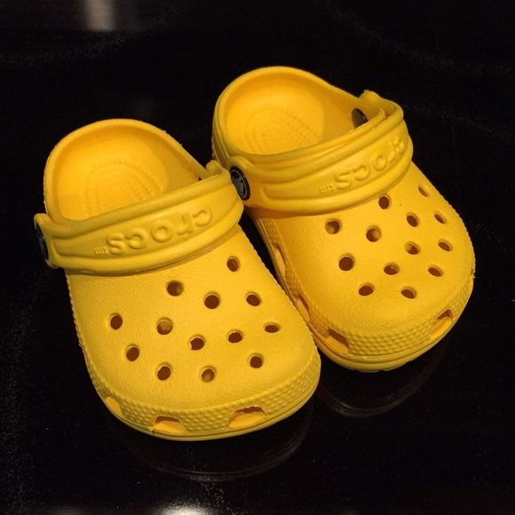 a4d38793594d CROCS Other - CROCS Infant Size 2 3 Yellow Clogs